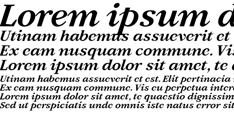 Sample of Artemius SN TT Bold Italic