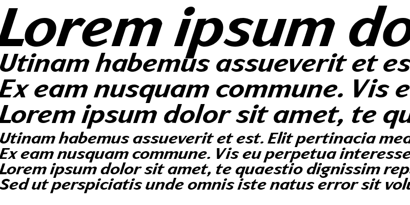 Sample of ArtemiusSans ItalicBold