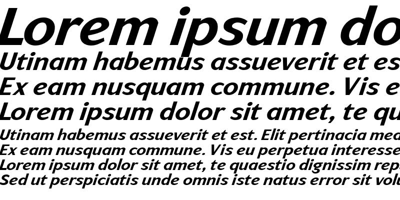 Sample of ArtemiusSans SN TT Bold Italic