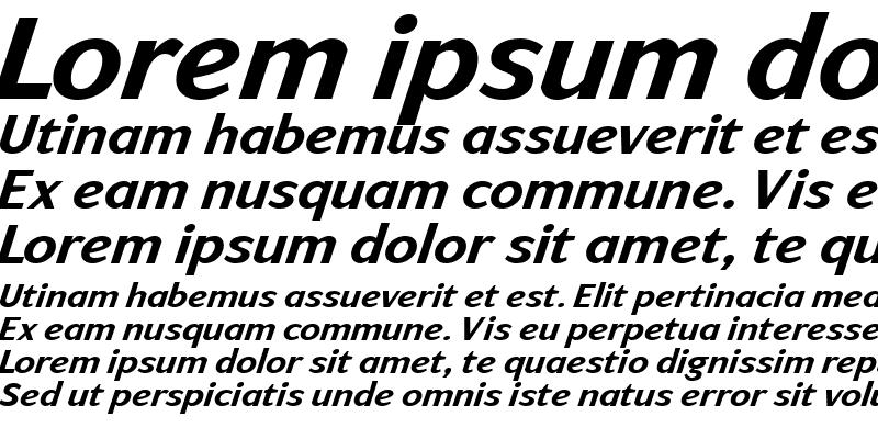 Sample of ArtemiusSans TT Bold Italic