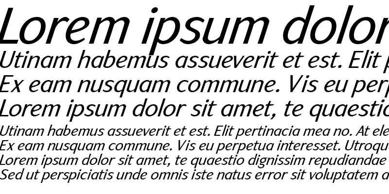 Sample of ArtemiusSans TT Regular Italic