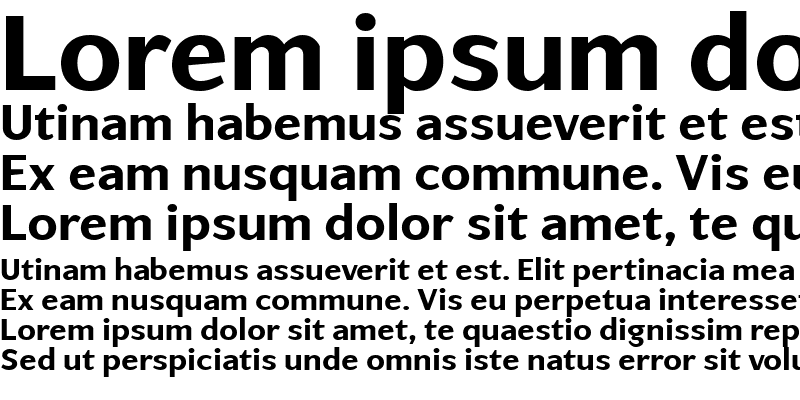 Sample of ArtemiusSansTT Bold