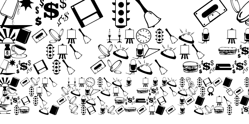 Sample of ArtsyParts Dingbats JL Regular