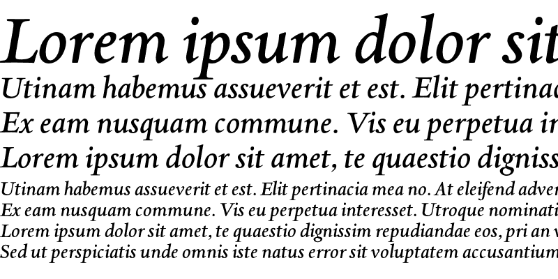 Sample of AsdanteMediumItalic