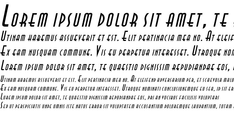 Sample of Asia Italic