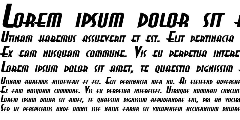 Sample of AsiaExtended BoldItalic