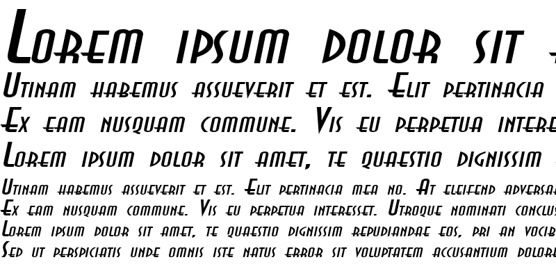 Sample of AsiaExtended Italic