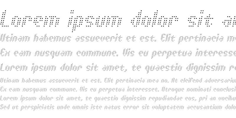 Sample of Asterix Light Italic