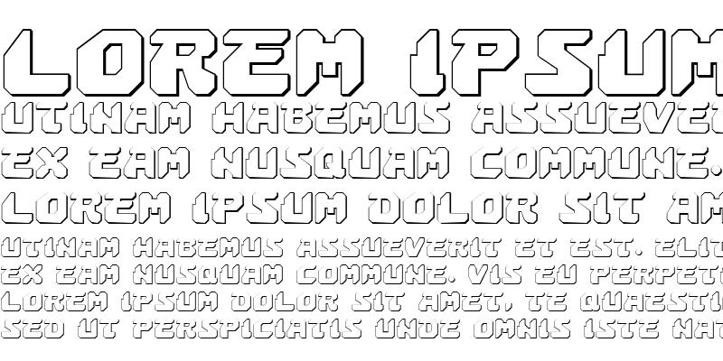 Sample of Astropolis 3D Regular