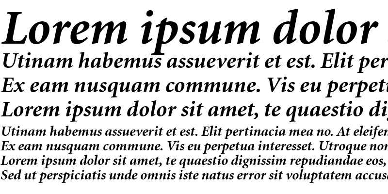 Sample of Atlantix Black SSi Bold Italic