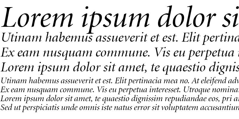 Sample of Atlantix Display SSi Display Italic
