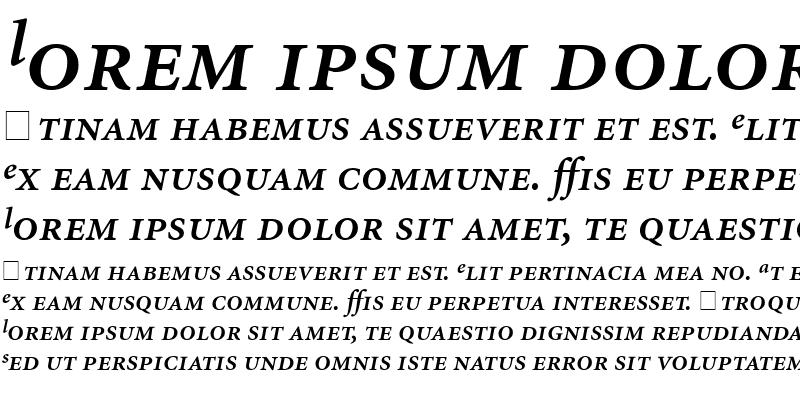 Sample of Atlantix Pro SSi Semi Bold Italic
