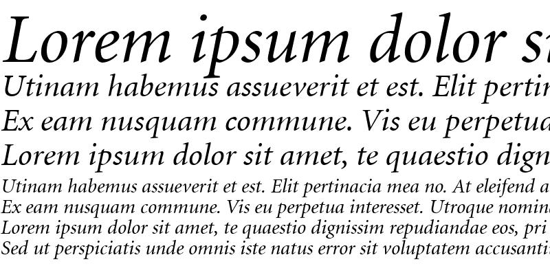 Sample of Atlantix SSi Italic