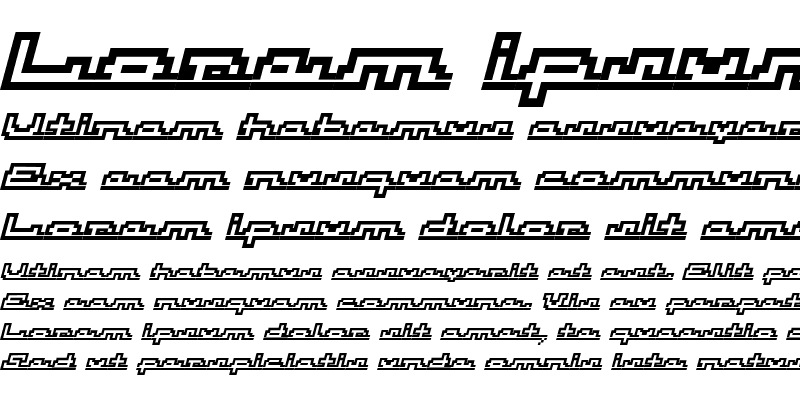 Sample of Atomic OutlineScriptItalic