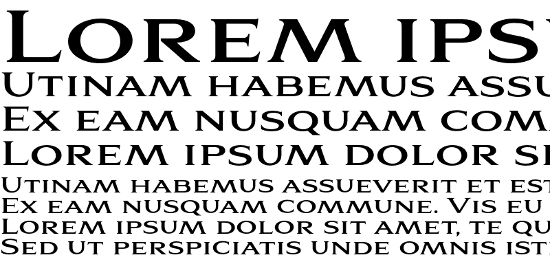 Sample of Aviano Serif Bold