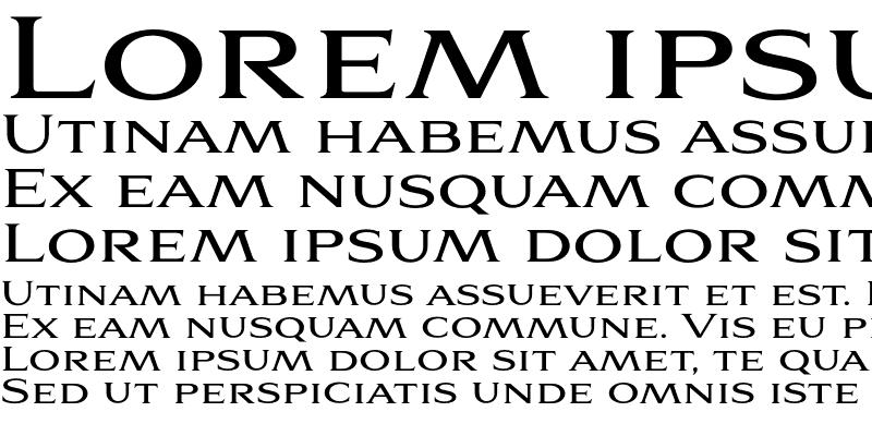 Sample of Aviano Serif Regular