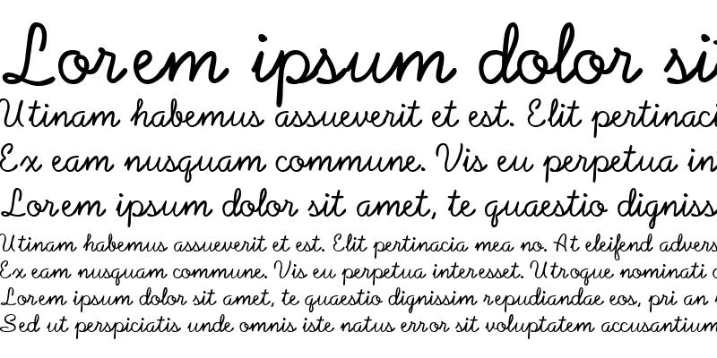 Sample of Baby Font Regular