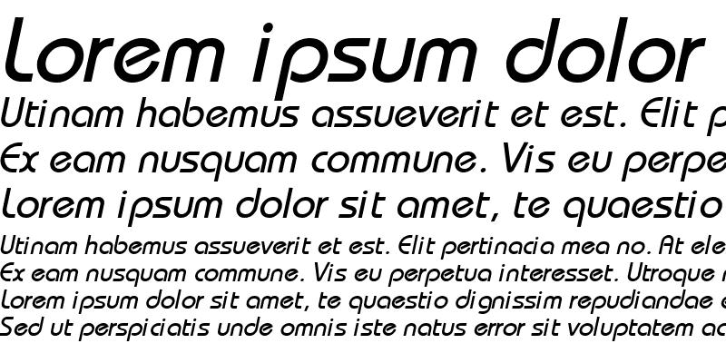 Sample of Bahamas Normal Italic