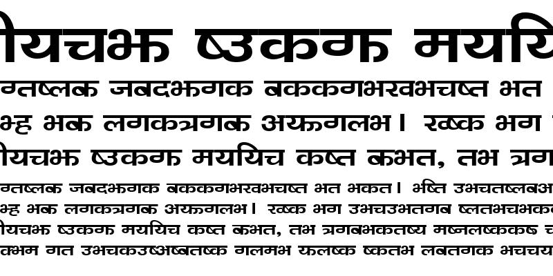 Sample of Bahunbad Regular