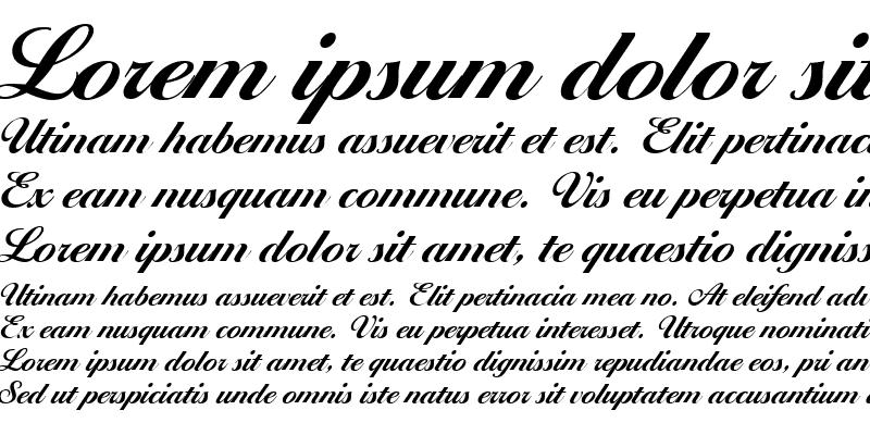 Sample of Ballantines Script EF Bold Regular