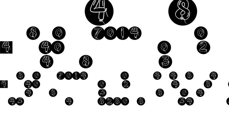 Sample of BalloonDigits