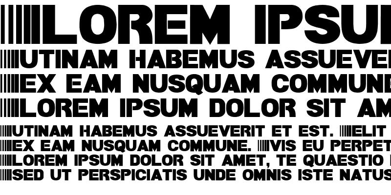 Sample of Bamf Bold
