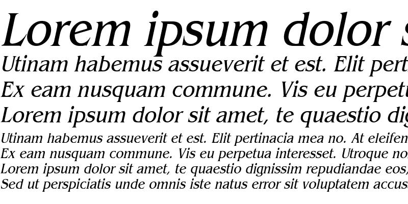 Sample of Bangle Condensed Italic