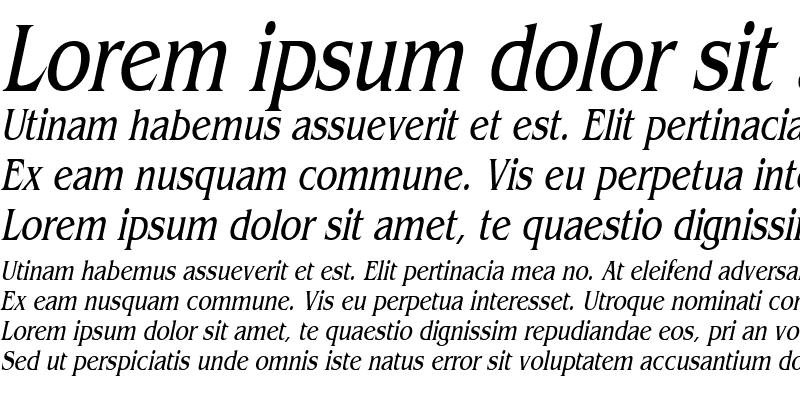 Sample of Bangle Thin Italic