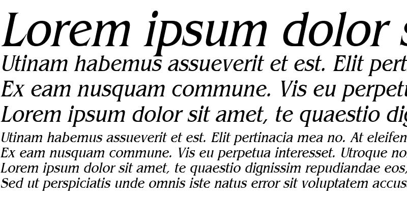 Sample of BangleCondensed Italic