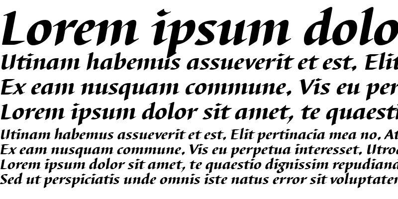 Sample of BarbedorTHea Italic