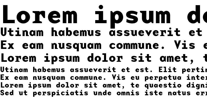 Sample of BaseMonoWide Bold