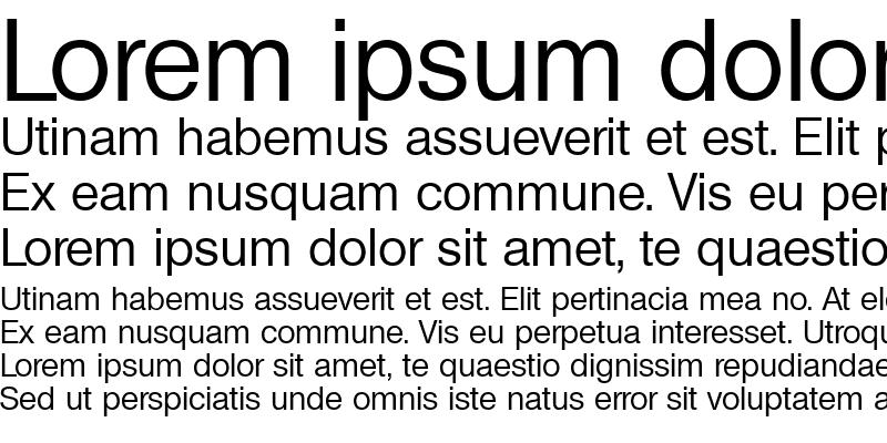 Sample of Basic Sans SF