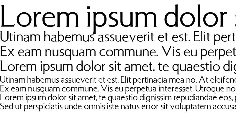 Sample of Basilea Font Regular