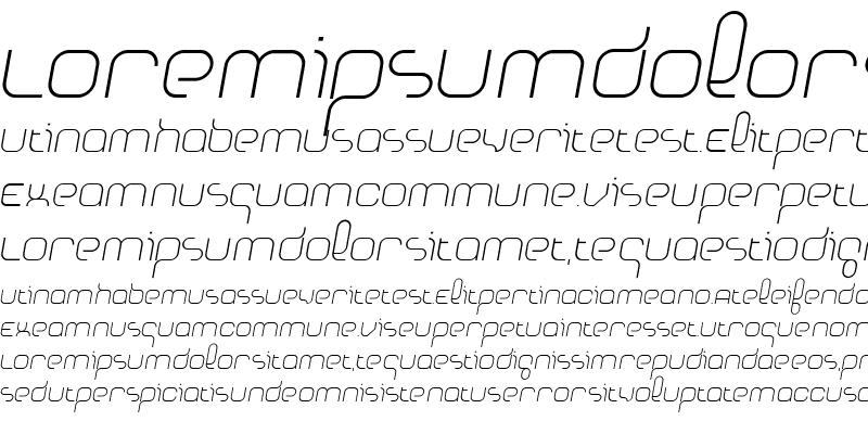 Sample of Basix Medium Italic