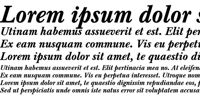 Sample of Baskerville Becker Med Italic