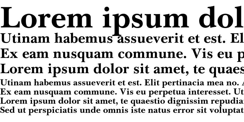 Sample of Baskerville Cyrillic Bold