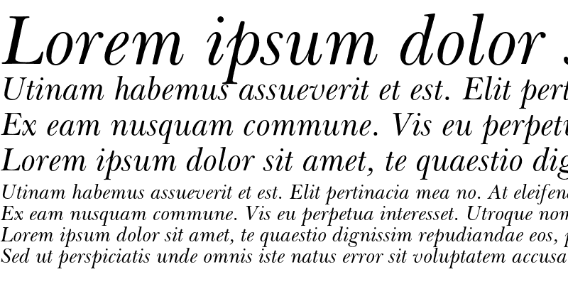 Sample of Baskerville Cyrillic Inclined