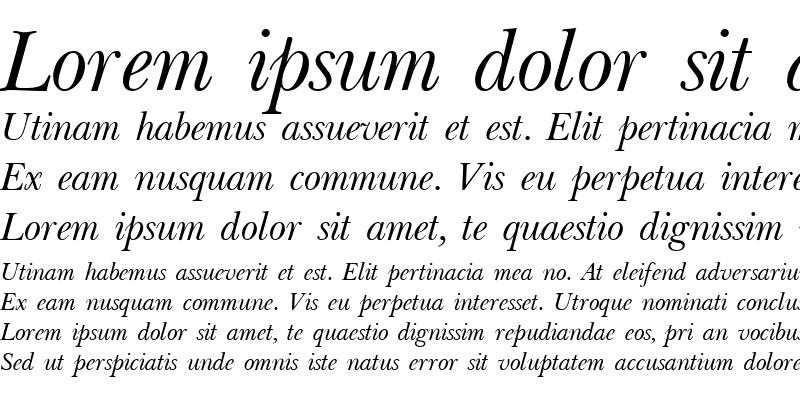 Sample of Baskerville Light Italic