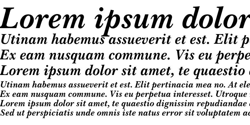 Sample of Baskerville No.2 Bold Italic
