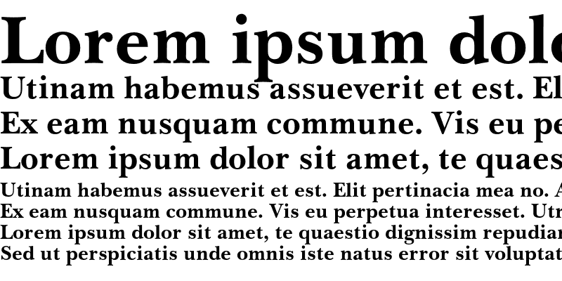 Sample of Baskerville No.2 Bold