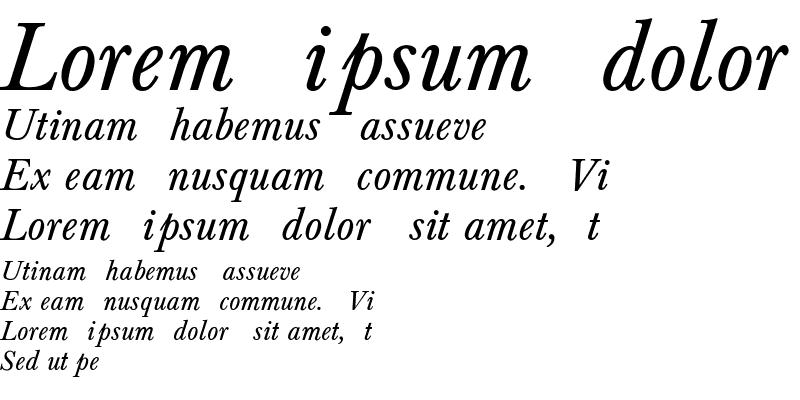 Sample of Baskerville-Normal-Italic Regular