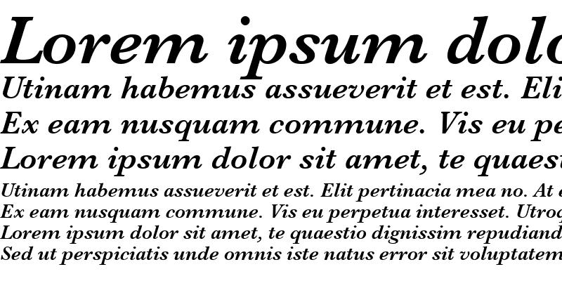Sample of Baskerville SemiBold Italic