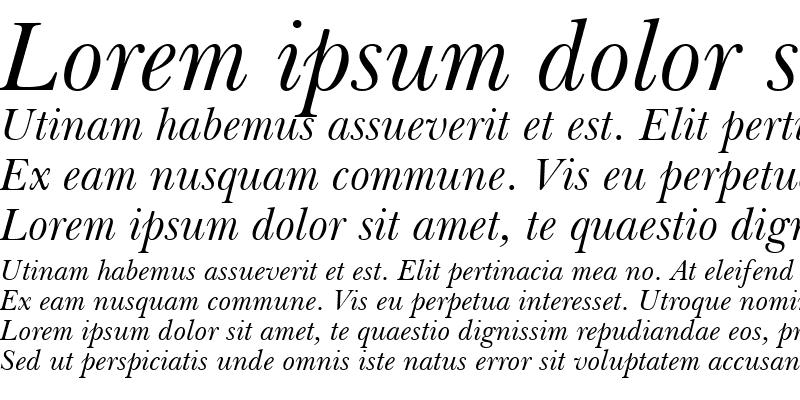Sample of Baskerville Win95BT Italic