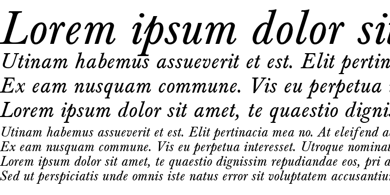 Sample of Baskerville_A.Z_PS Normal-Italic