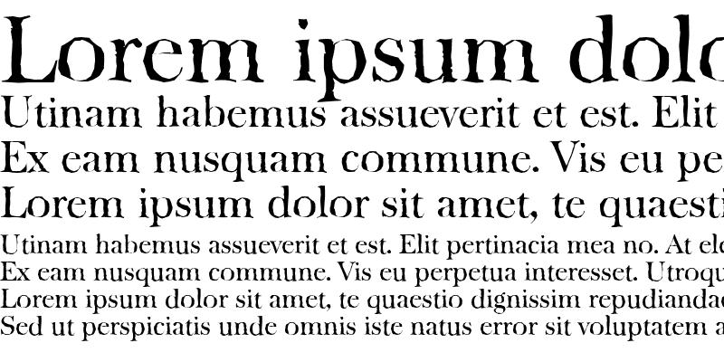 Sample of BaskervilleAntique