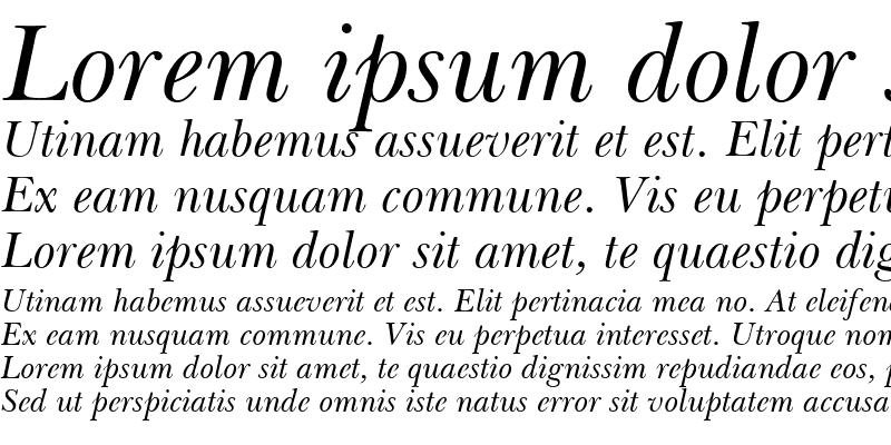 Sample of BaskervilleGreek Upright Italic