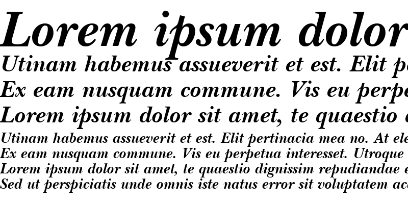 Sample of BaskervilleNovaH Bold Italic