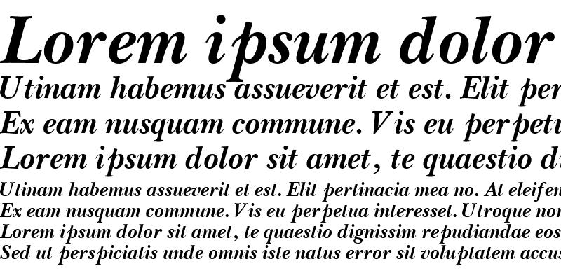 Sample of BaskervilleOSSSK Bold Italic