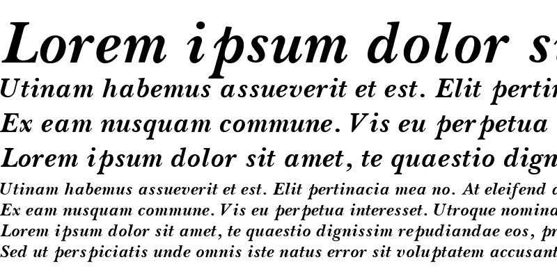 Sample of BaskervilleSSK Bold Italic