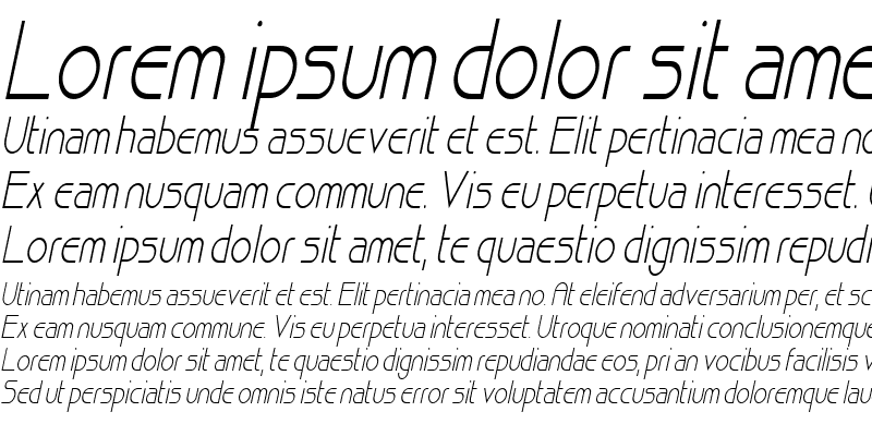 Sample of Basque Thin Italic